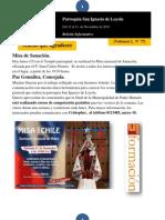 Boletín N° 77, del 15 al 21 de Noviembre de 2010