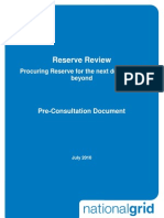 Reserve Review Pre Consultation Document
