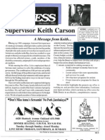 Alameda County Supervisor Keith Carson Access Newsletter