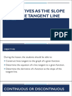 Derivatives as the Slope of the Tangent Line