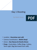 Day 1 Shooting