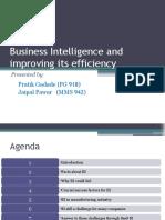 BI & Improving Its Efficiency