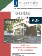 Guide des études 2010-2013 Master Sciences Economiques et de Gestion