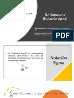 5.4 Sumatoria, Notación Sigma