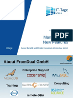 IT Tage 2019 MariaDB 10.4 New Features