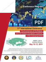 Conference Program. 11th International Conference. The Economies of the Balkan and the Eastern European Countries in the changing world