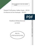 Prova Multi - Fonoaudiologia_PSD 2018