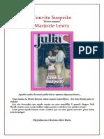 Marjorie Lewty - Convite Suspeito (Julia 302)