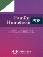 Family Homelessness UNANIMA Report