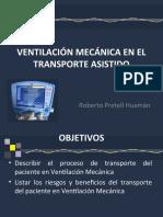VENTILACIÓN MECÁNICA EN EL TRANSPORTE ASISTIDObbbb