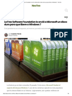 La Free Software Foundation le envió a Microsoft un disco duro para que libere a Windows 7