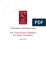Pro Tools Guidelines