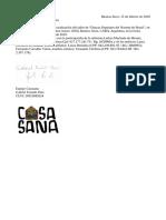 Carta de realización Casasana