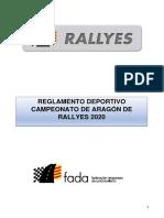 Reglamento Deportivo Campeonato de Aragon de Rallyes 2020