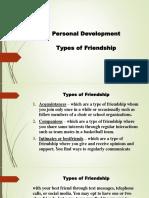 Types of Friendship