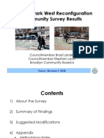 Prospect Park West Reconfiguration Community Survey Results