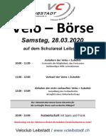 Flyer Velobörse Leibstadt 2020