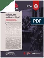 Reporte Electoral N04 Rasgo Distintivo de Las Candidatas en Perú