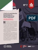Reporte Electoral N07 Participación de Personas Con Discapacidad en Listas Congresales