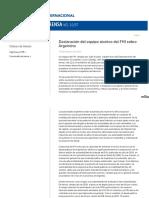 Declaración del equipo técnico del FMI sobre Argentina