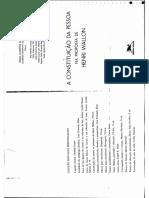 A constituição da pessoa em Henri Wallon