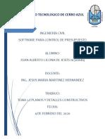 INSTITUTO TECNOLOGICO DE CERRO AZUL 1.2 planos y detalles constructivos - correccion