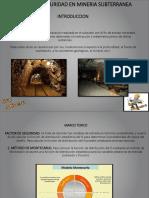 Factor de Seguridad Minería Subterranea