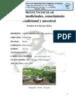 PROYECTO ESCOLAR PLANTAS MEDICINALES