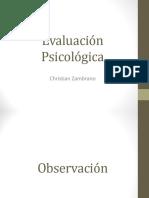 Evaluacion psicologica - Observación