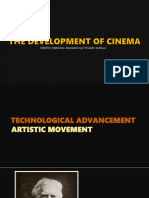 THE DEVELOPMENT OF CINEMA