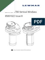 Manual Lewmar V700