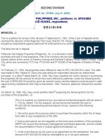 6. San Miguel Properties Phil Inc  vs Huang G.R. No. 137290 July 31, 2000