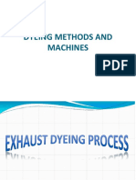 dyeing machines and methods