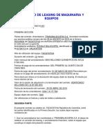 CONTRATO DE LEASING DE MAQUINARIA Y EQUIPOS
