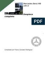 Motor mercedez -Despiece-MB-180-D