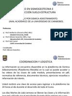 PRESENTACION DE BIENVENIDA (CURSO EN SISMOGEOTECNIA E ISE)