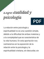 Espiritualidad y psicología - DIA