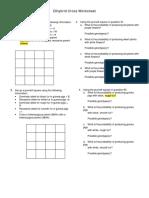 Dihybrid Cross Worksheet