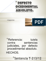 DEFECTO PROCEDIMENTAL ABSOLUTO