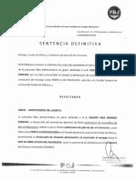 SENTENCIA DEFINITIVA PRA 274-2019