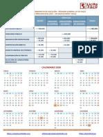 TOPES Y CALENDARIO 2020