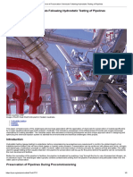 Use of Preservation Chemicals Following Hydrostatic Testing of Pipelines
