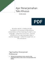 Materi Ajar Penerjemahan Teks Khusus