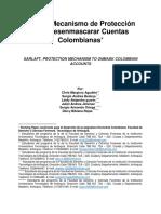 SARLAFT Mecanismo de Protección para Desenmascarar Cuentas Colombianas