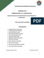 IMPORTANCIA DEL PROCESO ADMINISTRATIVO