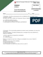 lista avaliativa linguagem de programação