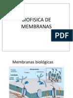 Biofisica avanzada de las membranas celulares