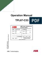 Турбонагнетатель TPL67-C33 Operation Manual