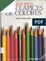 Asi se pinta con lapices de coloress