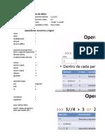 variables y operadores